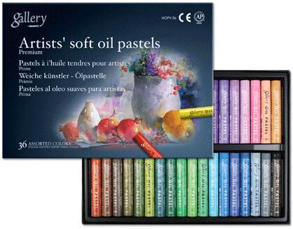 Пастель масляная Mungyo Gallery Soft Oil, мягкая профессиональная 36 цветов - круглая D11x70mm
