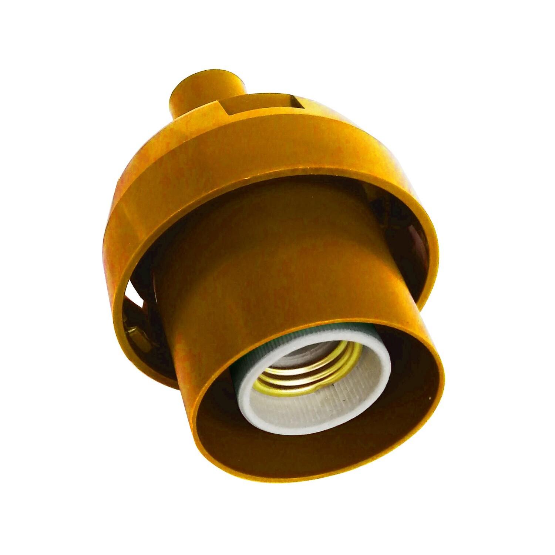 Основание с переходником на трубу 20мм под плафон - Золотой цвет