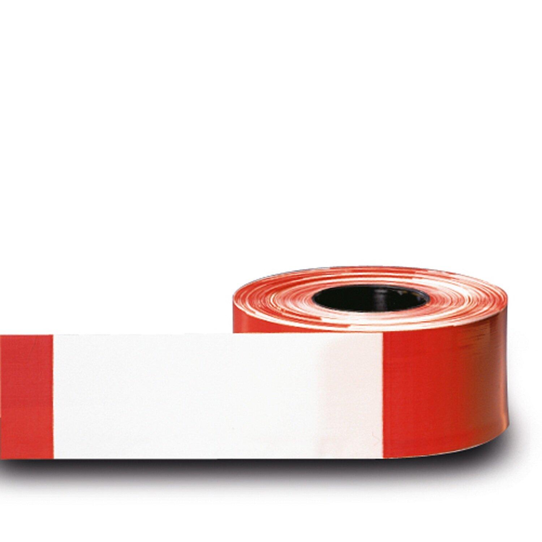 MORION afbakeningslint rood/wit, rol van 500m/80mm.