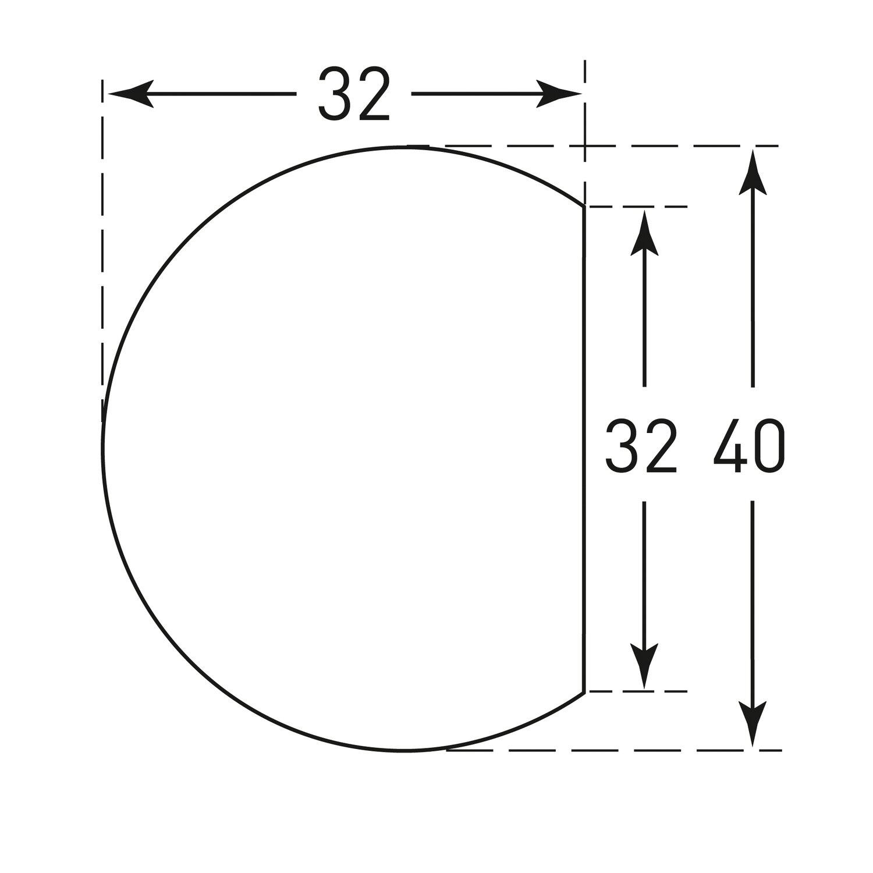 MORION oppervlaktebescherming (cirkel) 40x32mm, wit.