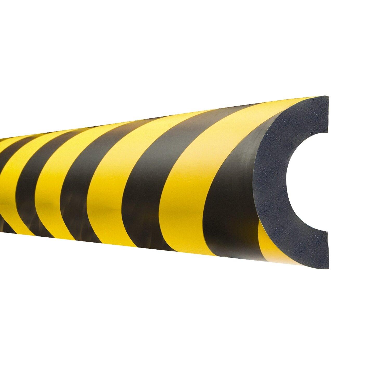 MORION stootbanden Bochtstuk 60mm, magnetisch, geel/zwart.