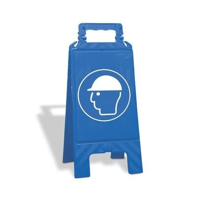 Waarschuwingsstandaard kunststof blauw