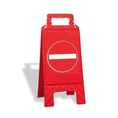 Waarschuwingsstandaard kunststof rood