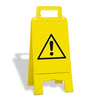 Waarschuwingsstandaard kunststof geel