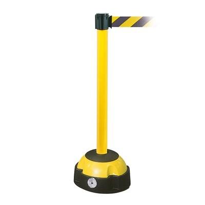 MORION riem afzetpaal, paal geel, riemkl. zwart/geel, 985/60mm en L 3000mm.