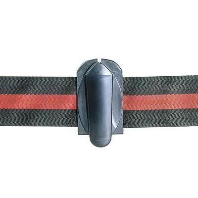 Riemverbinder, zwart (verbindt twee riemen samen) mogelijk tot 8m.
