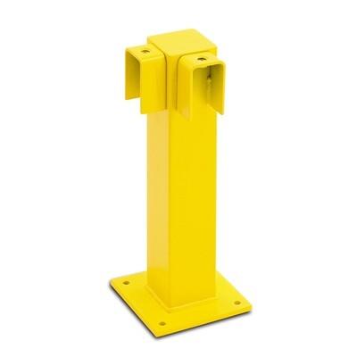 BLACK BULL rambeveiliging (hoek 90º) 500x100x100mm, gele kunststof.