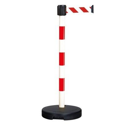 MORION beveiligings riemstaander BASIC, kleur rood/wit, riem/band 3000/50mm