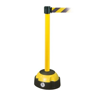 MORION riem afzetpaal, paal geel, riemkl. zwart/geel, 985/60mm en L 4000mm.