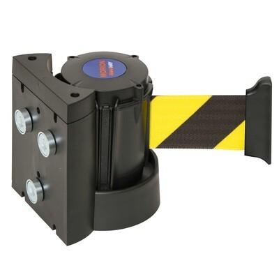 MORION wandriem magnetisch 4000mm, geel/zwart gearceerd.