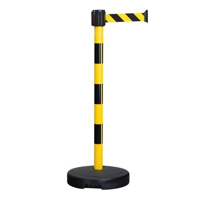 MORION beveiligings riemstaander BASIC, kleur zwart/geel, riem/band 3000/50mm.