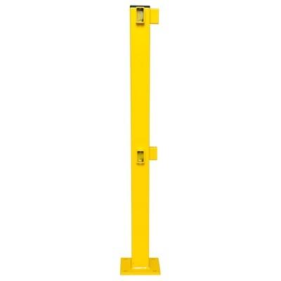 BLACK BULL rambeveiliging S-line (hoek 90º), gele kunststof.