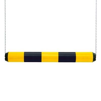 MORION hoogtebegrenzer kunststof 950x100mm, zwart/geel.