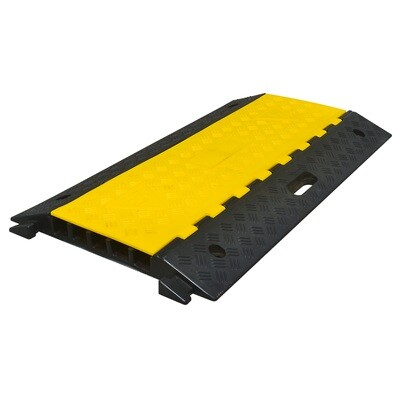 MORION kabelgoot medium met 5 kabelkanalen, zwart/geel, 500x900x50mm.