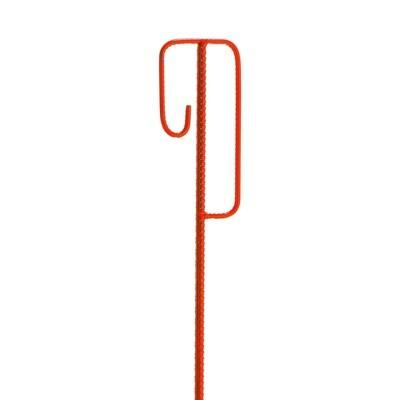 MORION afbakeningshouder, rood gelakt, afmeting H x Ø (mm) 1250x12.
