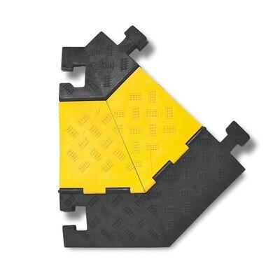 MORION kabelgoot groot (hoekelement rechts) 600x500/200x75mm, zwart.