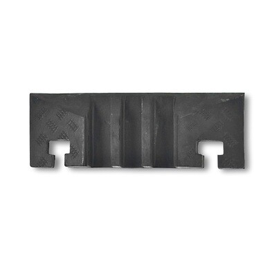 MORION kabelgoot groot (eindelement pen) 600x283x75mm, zwart.