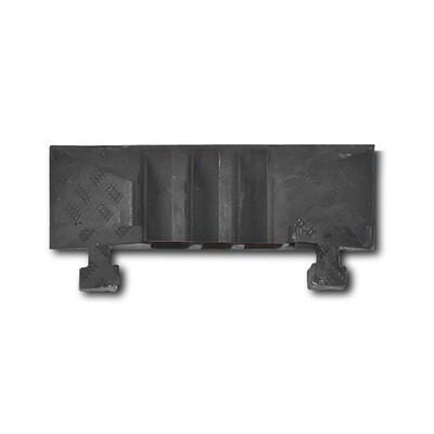MORION kabelgoot groot (eindelement gleuf) 600x283x75mm, zwart.