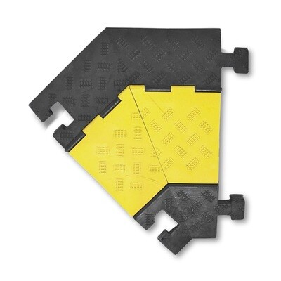 MORION kabelgoot groot (hoekelement links) 600x500/200x75mm, zwart.