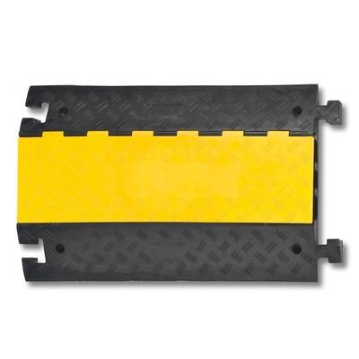 MORION kabelgoot groot (standaardelement) 600x870x75mm, zwart/geel.