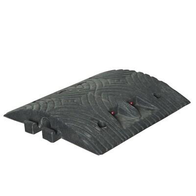 TOPSTOP 5-RE verkeersdrempel, 500x500x70mm, zwart.