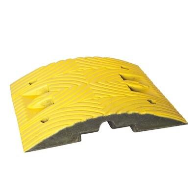 TOPSTOP 5-RE verkeersdrempel, 500x500x70mm, geel.