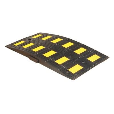 Safety Rider verkeersdrempel zwart/geel, 900x500x50mm