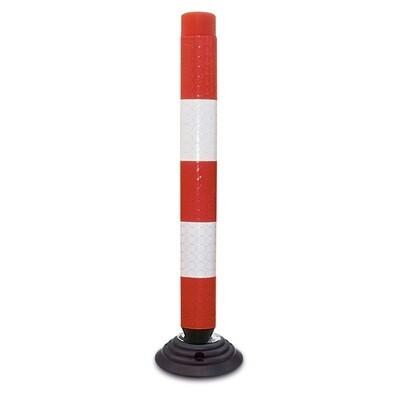 FIX Baken 100mm Ø hoogte 1000mm, rood/wit, model 100-TL.