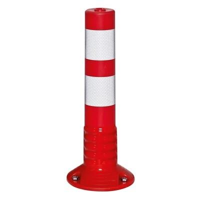 ComeBack paaltje 80mm Ø hoogte 460mm, rood/wit, zelfoprichtend.