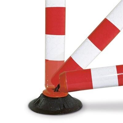 Flexi Baken 100mm Ø hoogte 760mm, zelf oprichtend, rood/wit.