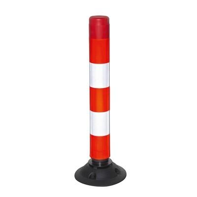 FIX Baken 100mm Ø hoogte 760mm, rood/wit, model 76-TL.