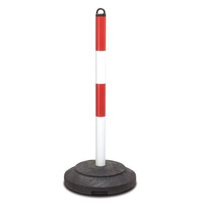 EXTERN, zware kettingstaander 1000x60mm Ø, rood/wit