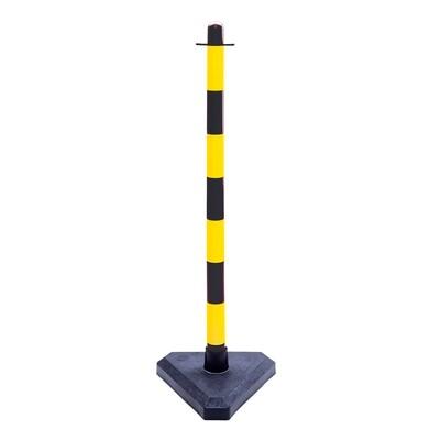 GUARDA kettingstaander zwart/geel, H 870mm.