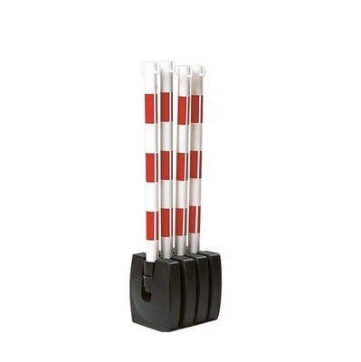 GUARDA kettingstaander SET, rood/wit, 4 staanders.