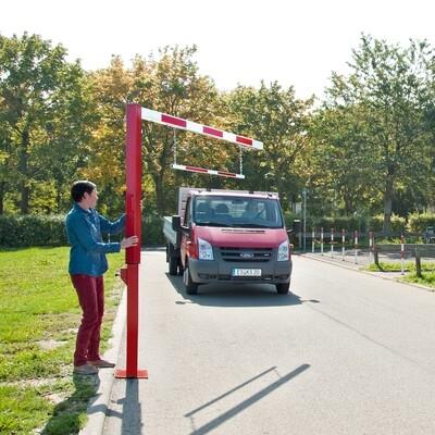 COMPACTE begrenzer draaibaar, totale lengte 4705mm.