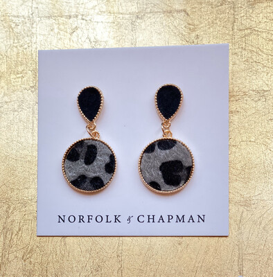 The Lovely Lucy Statement Earrings Soft Grey