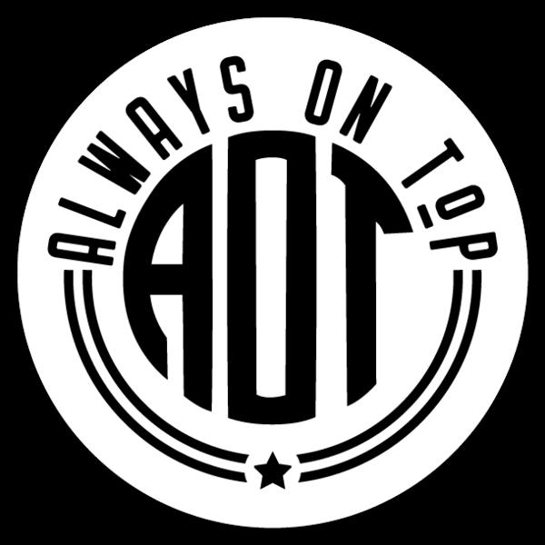 White Logo Sticker