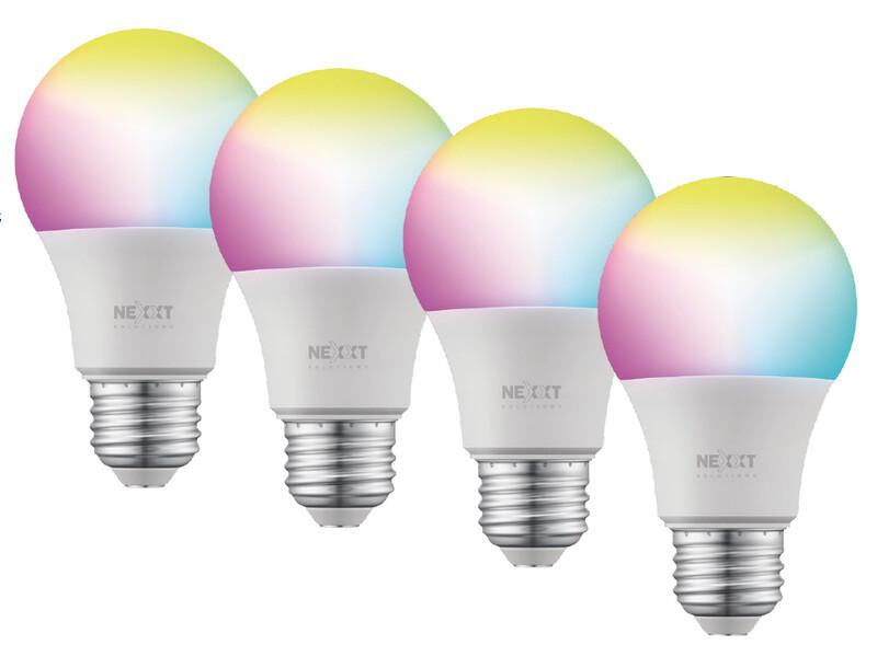 Bombilla LED inteligente Wi-Fi 110V | Multicolor | Paquete de 4 unidades