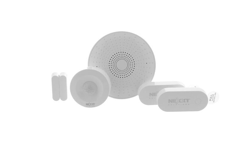 Alarma para el Hogar | Kit esencial inteligente con conexión Wi-Fi | Sirena,  sensor de movimiento y dos sensores de contacto.
