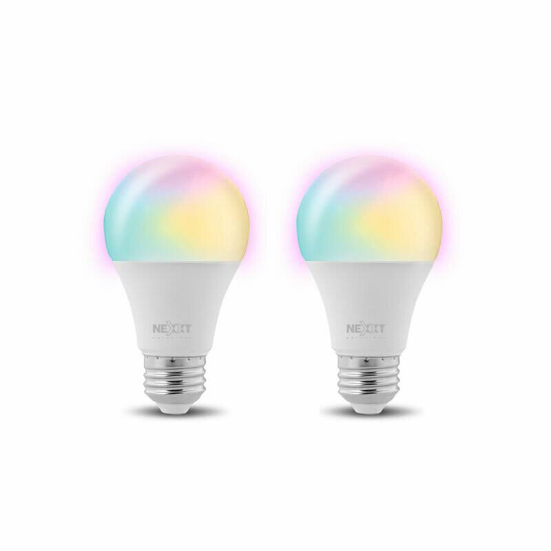 Set de 2 Bombillos LED inteligente Wi-Fi 110V | Multicolor | A19 |
