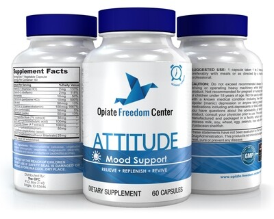 Mood Supplement: ATTITUDE - Promotes Positive Mood, Motivation and Replenishment