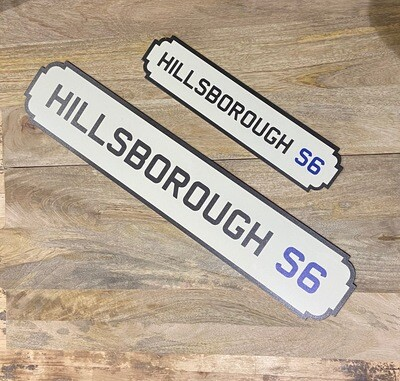 Hillsborough Railway Sign