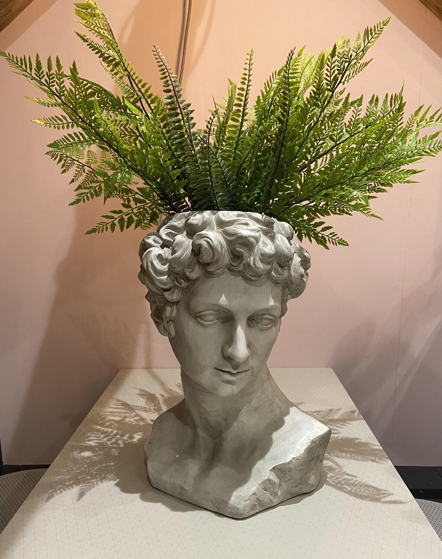 Stone Effect David Head / Bust Planter