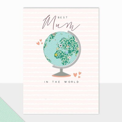 Best Mum in the World Greetings Card