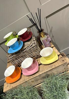Heart Shaped Tea Cup & Saucer