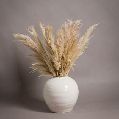 Large Glazed Crackle Vase