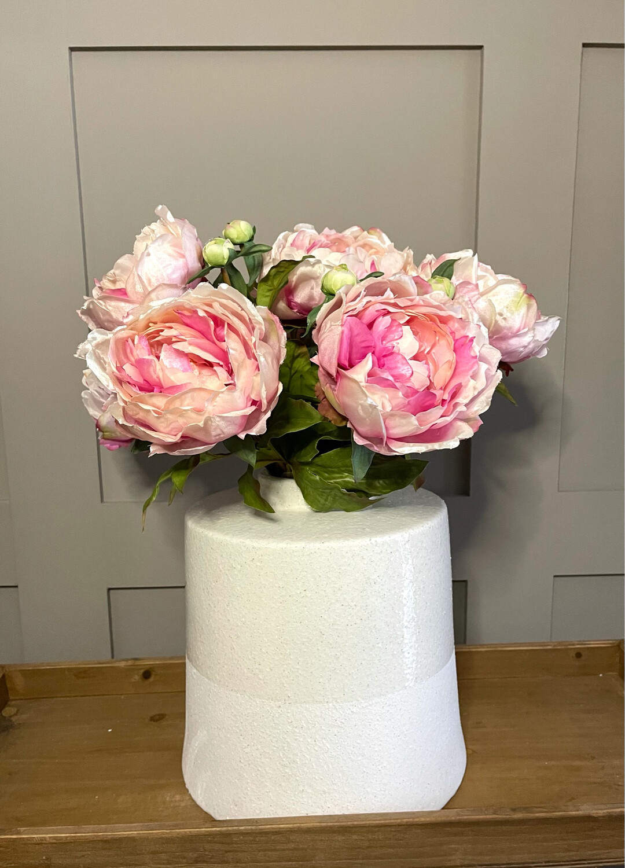 White Dipped Glazed Vase