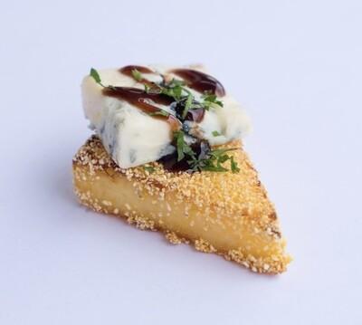 Gorgonzola polenta cake (20) - Vege/GF