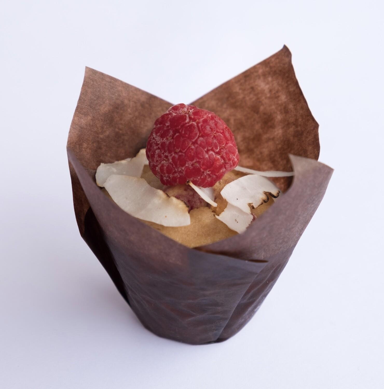 Raspberry and coconut mini muffin (12)