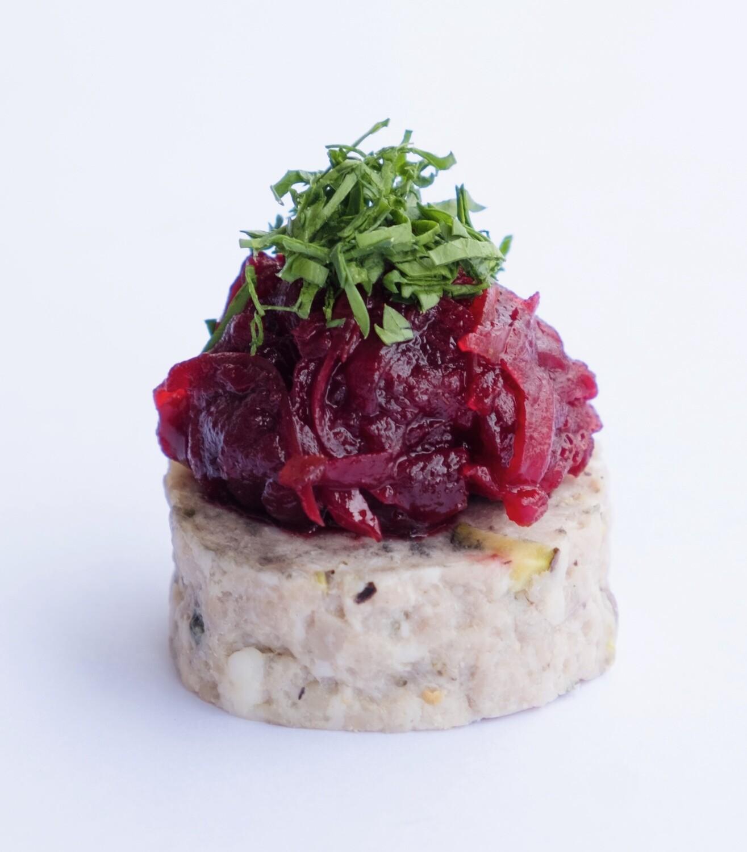 Pork and pistachio terrine with beetroot relish (20) - GF